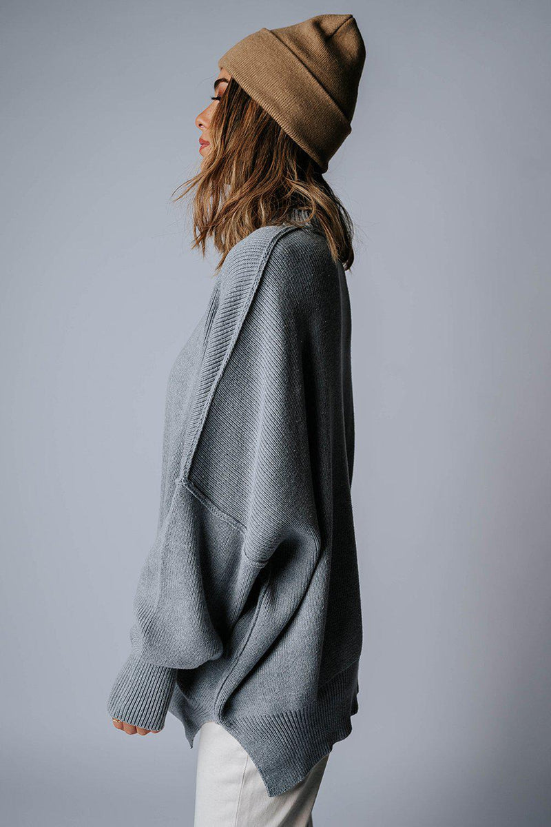 Clad and Cloth, State of Emotion Pullover in Grey, Clad & Cloth, Top.