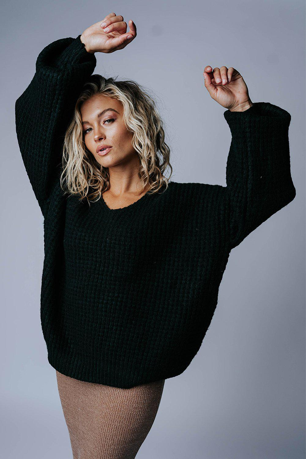 best_seller, Stayin' Alive Sweater in Evergreen, Top, women's clothing, dresses, skirts, coats, jackets, shoes, boots, tops, tee shirts, jeans, free people, levi's, rollas, jumpsuits, bottoms, tops, sweaters, pullovers, pants, shorts, sweats,.