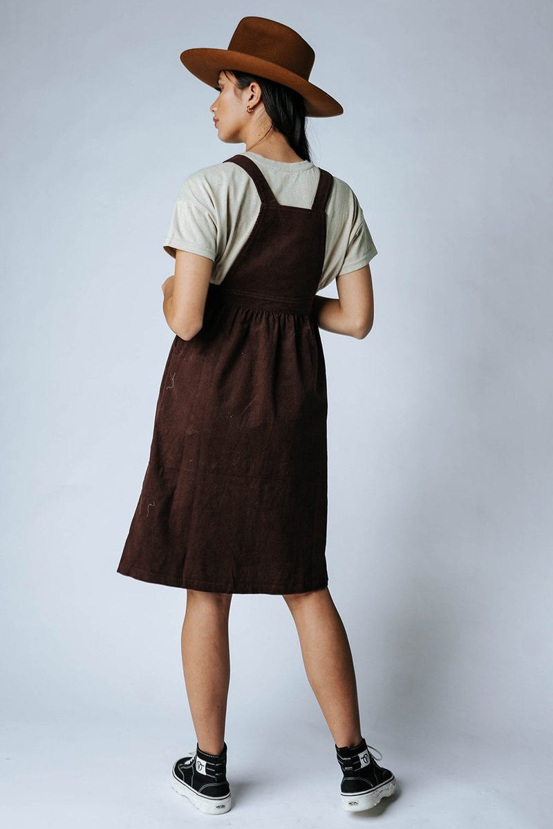 Strawberry Fields Dress Overalls-Dress-MOVINT-XS-Clad & Cloth