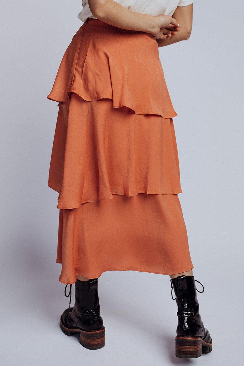 best_seller, Street Of Dreams Skirt in Clay, , women's clothing, dresses, skirts, coats, jackets, shoes, boots, tops, tee shirts, jeans, free people, levi's, rollas, jumpsuits, bottoms, tops, sweaters, pullovers, pants, shorts, sweats,.