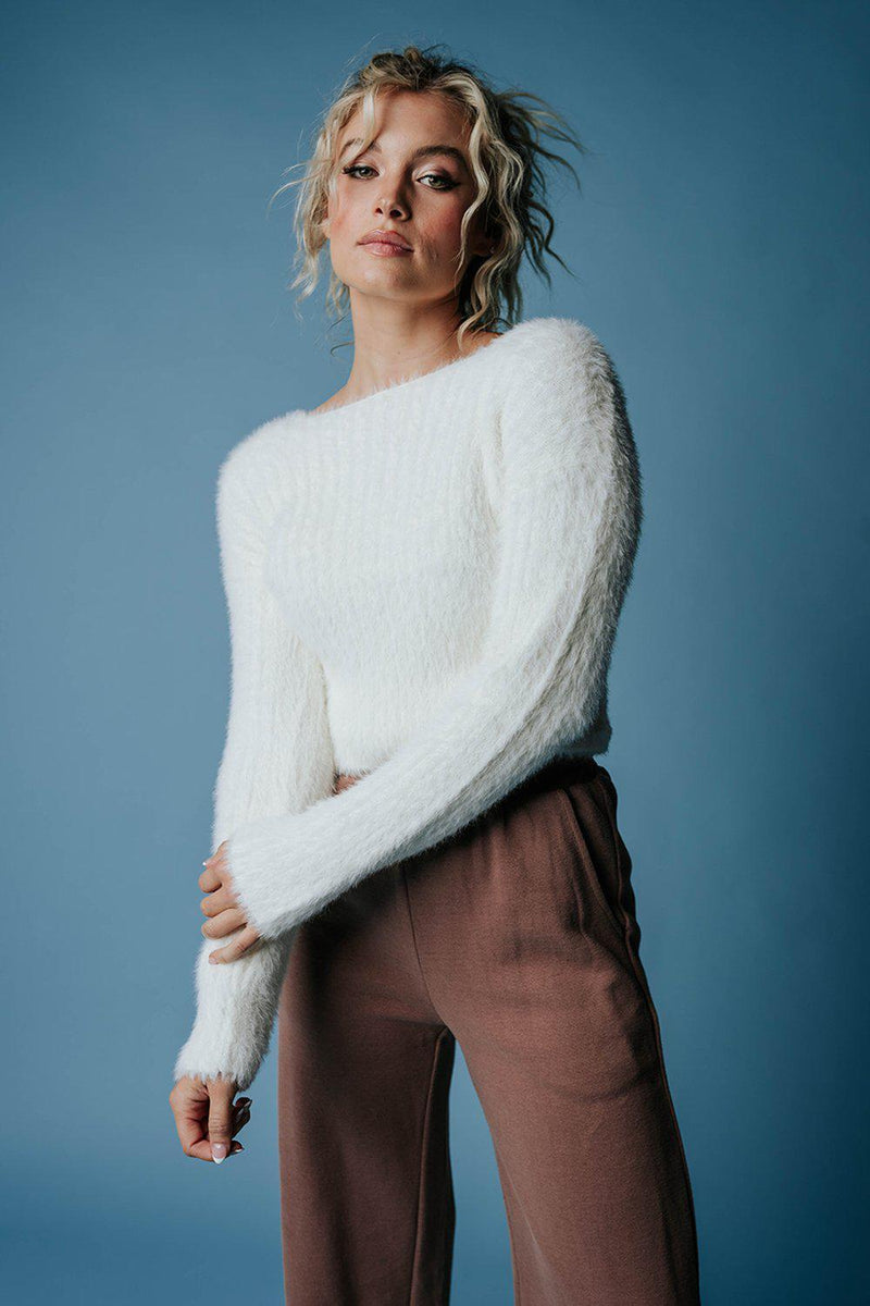 Clad and Cloth, Sun Shower Sweater in Off-White, hyfve, Top.