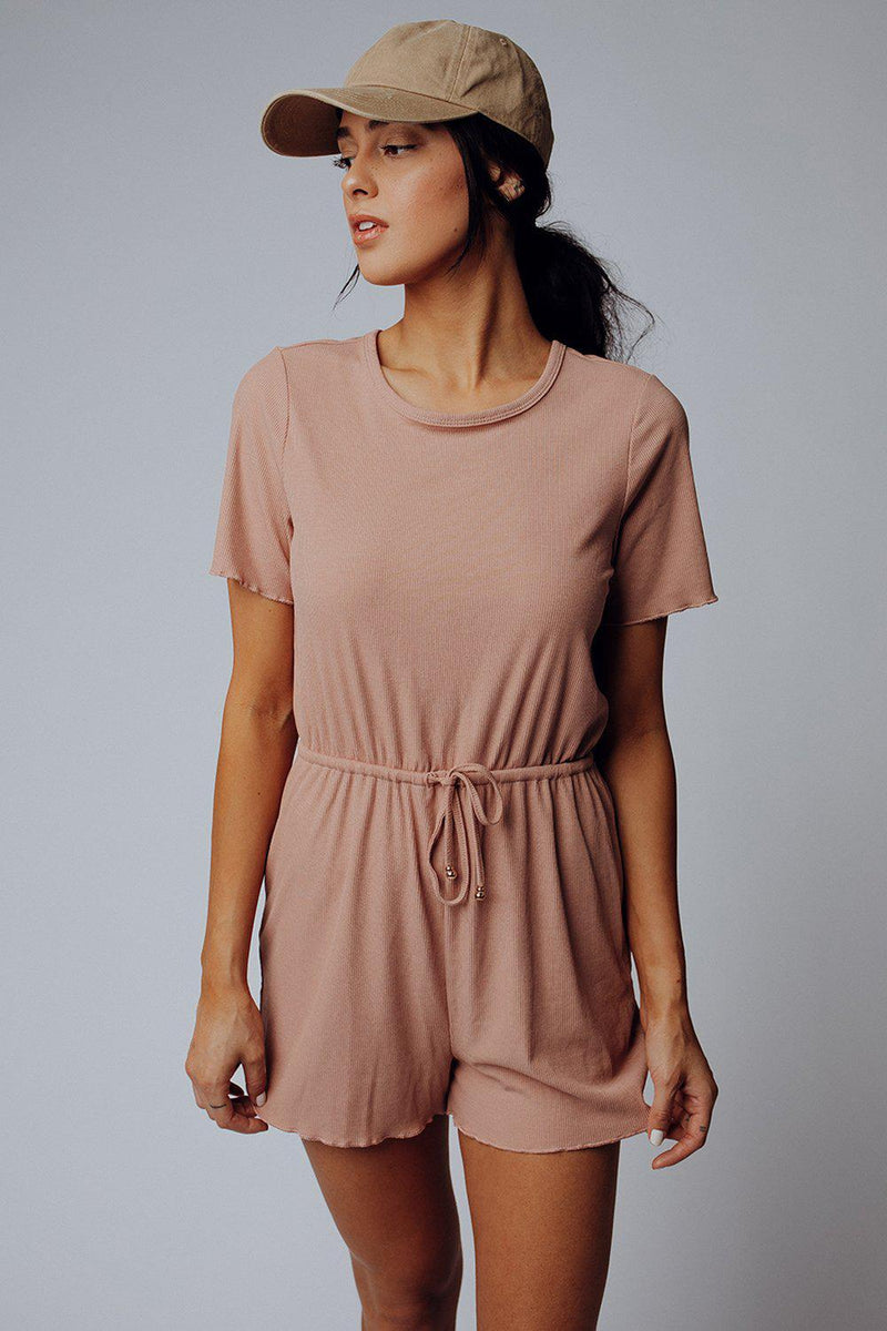Clad and Cloth, Sunday Candy Romper in Mauve, Clad & Cloth, Romper.