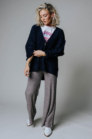 Clad and Cloth, Sweet Surrender Cardigan in Navy, Zenana, Top.