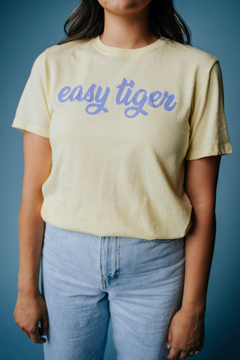 Take It Easy Tiger Tee, cladandcloth.