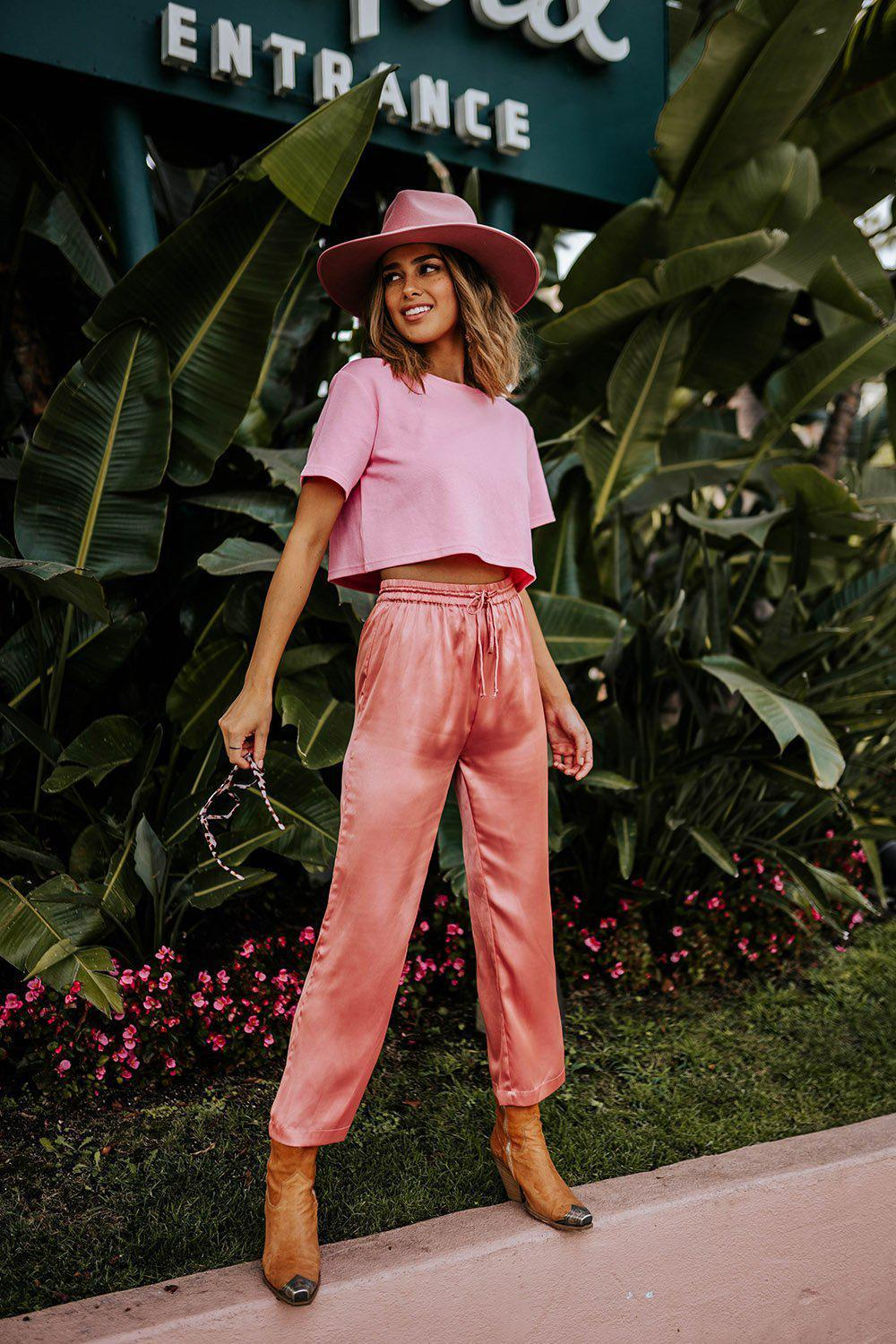best_seller, Take Me Away Satin Pants in Rose, Bottom, women's clothing, dresses, skirts, coats, jackets, shoes, boots, tops, tee shirts, jeans, free people, levi's, rollas, jumpsuits, bottoms, tops, sweaters, pullovers, pants, shorts, sweats,.