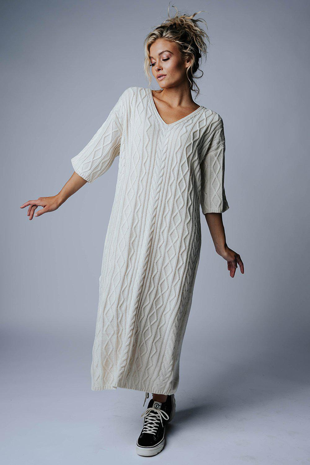 best_seller, Tender Love Midi Sweater Dress in Ivory, Dress, women's clothing, dresses, skirts, coats, jackets, shoes, boots, tops, tee shirts, jeans, free people, levi's, rollas, jumpsuits, bottoms, tops, sweaters, pullovers, pants, shorts, sweats,.
