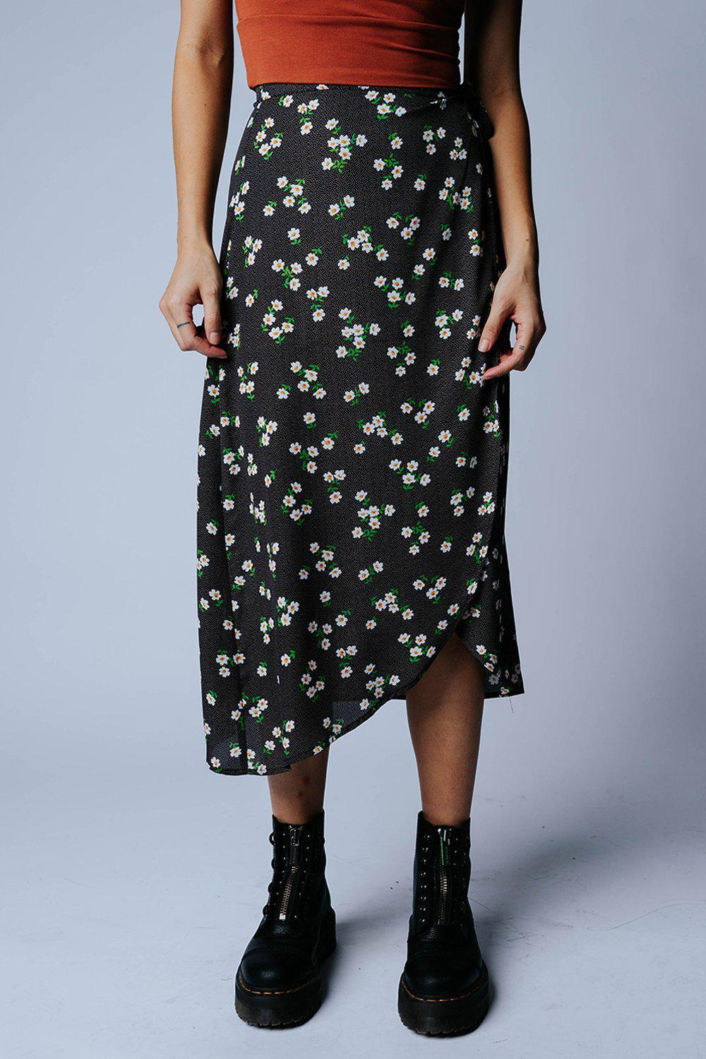 That's My Girl Floral Midi Skirt in Ivory Combo, cladandcloth, n/a.