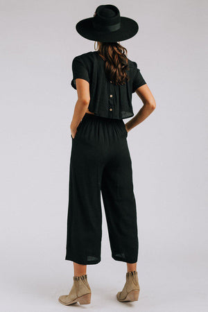 Clad and Cloth, The Annie Jumper in Black, Clad & Cloth, Jumpsuit.