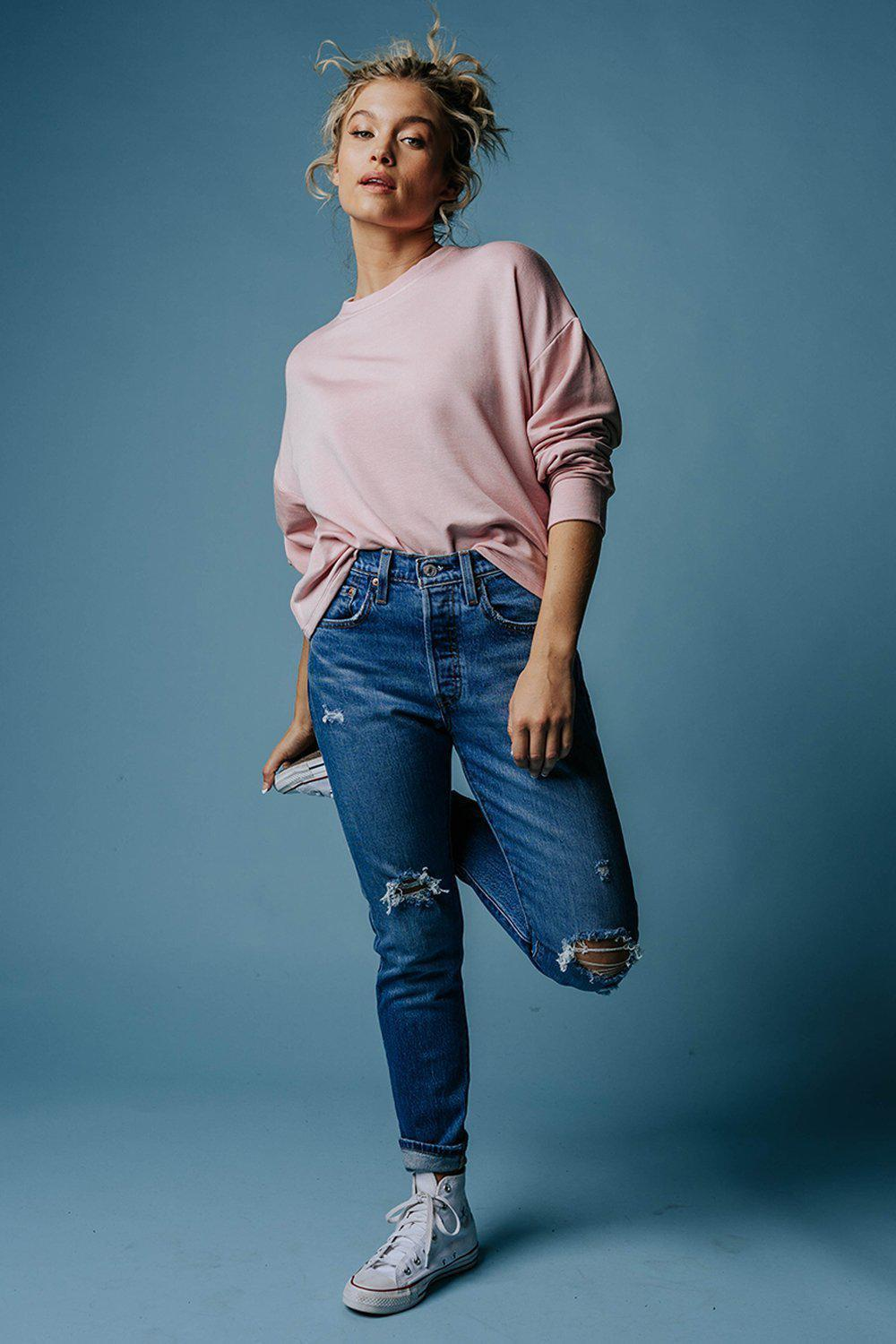 best_seller, The Blush Pullover, Top, women's clothing, dresses, skirts, coats, jackets, shoes, boots, tops, tee shirts, jeans, free people, levi's, rollas, jumpsuits, bottoms, tops, sweaters, pullovers, pants, shorts, sweats,.