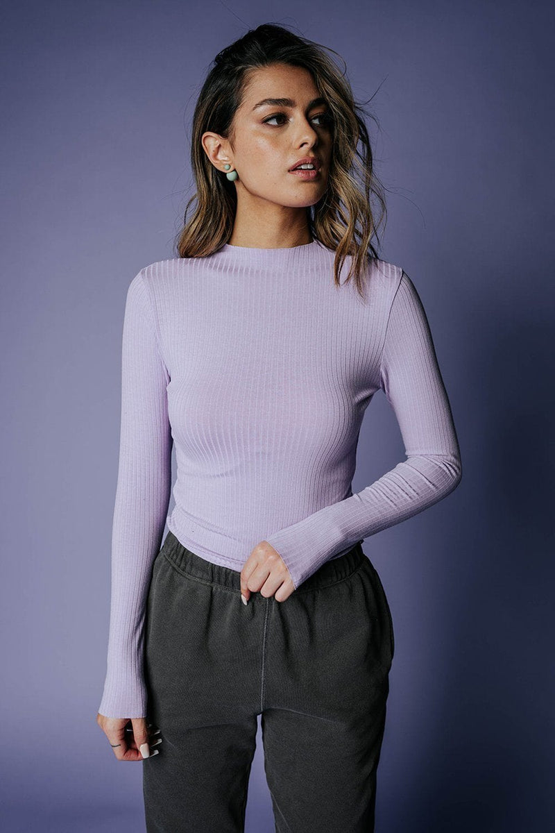 Clad and Cloth, The Kendall Top in Lilac, Heart & Hips, Top.