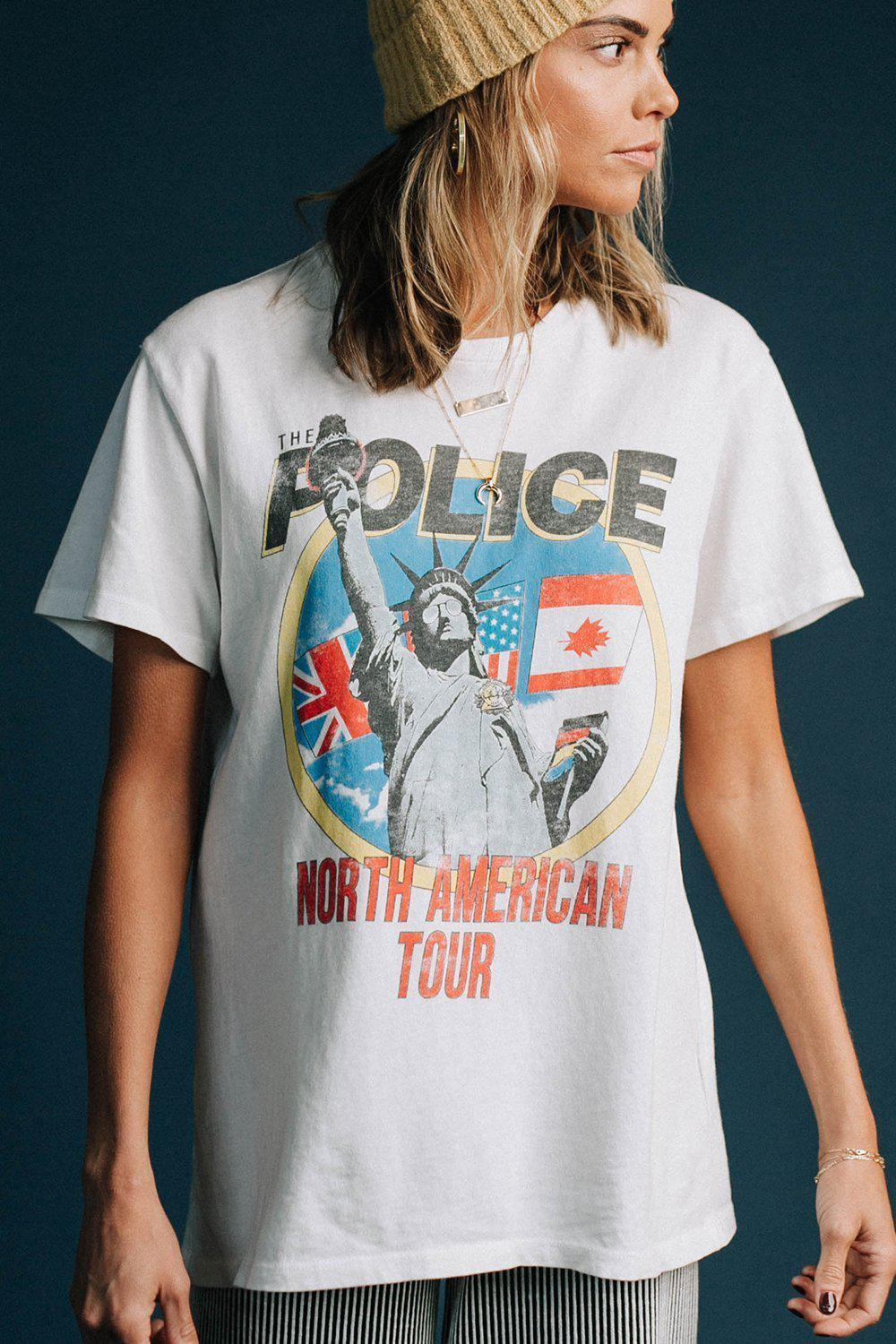 Clad and Cloth, The Police North American Tour Tee, Clad & Cloth, Top.