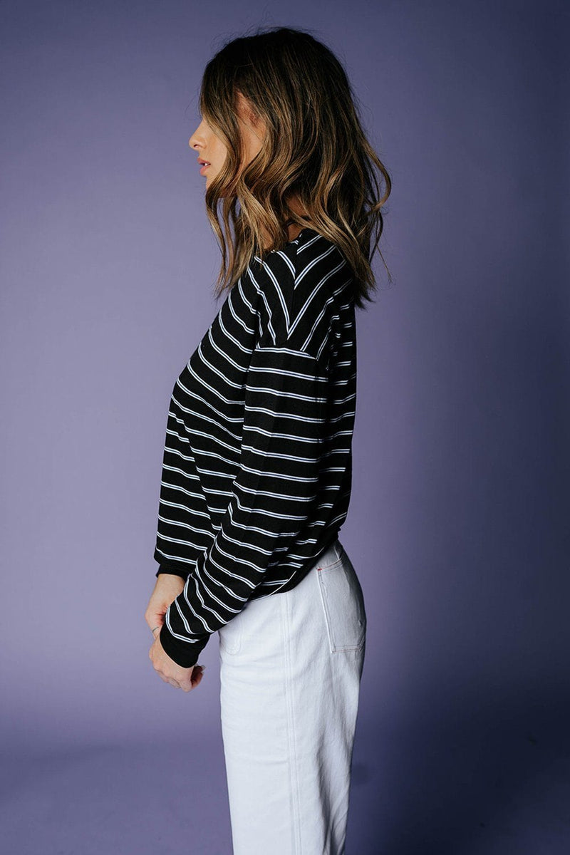 The Tyler C Stripe Tee, cladandcloth, Heart & Hips.