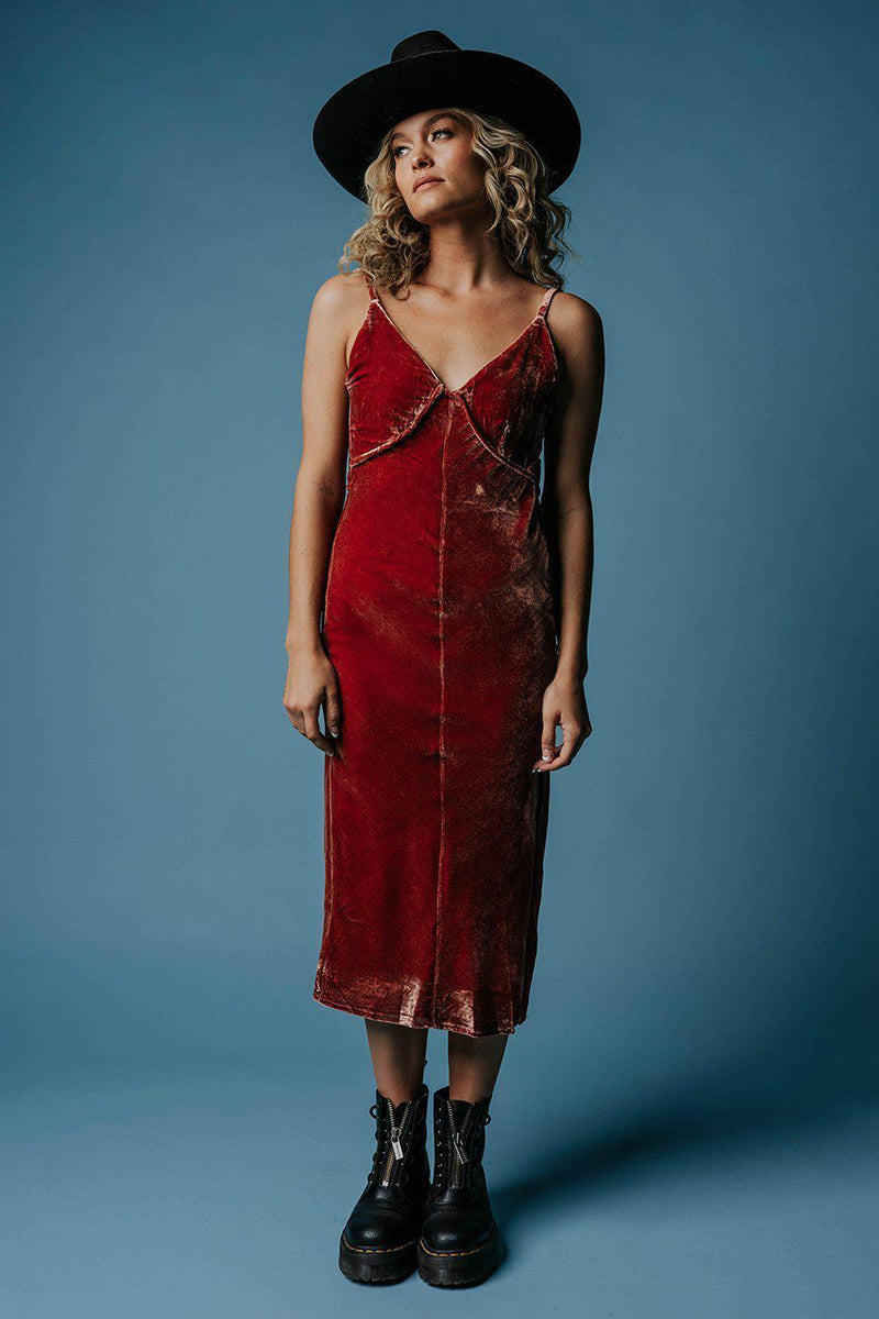 best_seller, Velvet Crush Dress in Burnt Rose, Dress, women's clothing, dresses, skirts, coats, jackets, shoes, boots, tops, tee shirts, jeans, free people, levi's, rollas, jumpsuits, bottoms, tops, sweaters, pullovers, pants, shorts, sweats,.