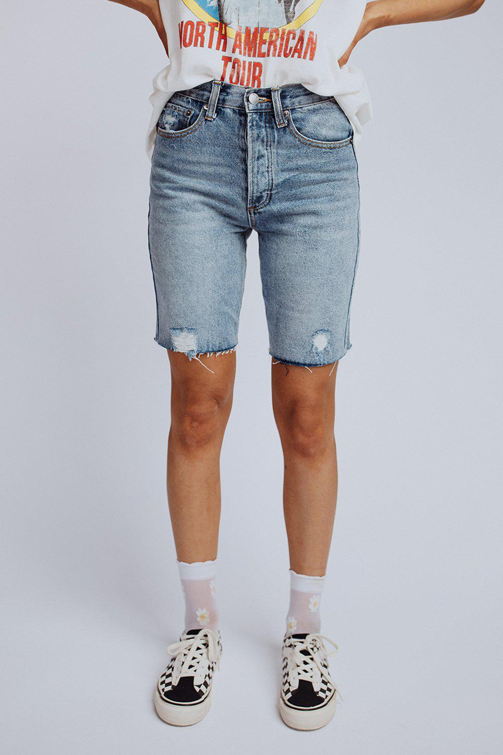 Clad and Cloth, Vintage Love Short in Light Denim, Clad & Cloth, Bottom.