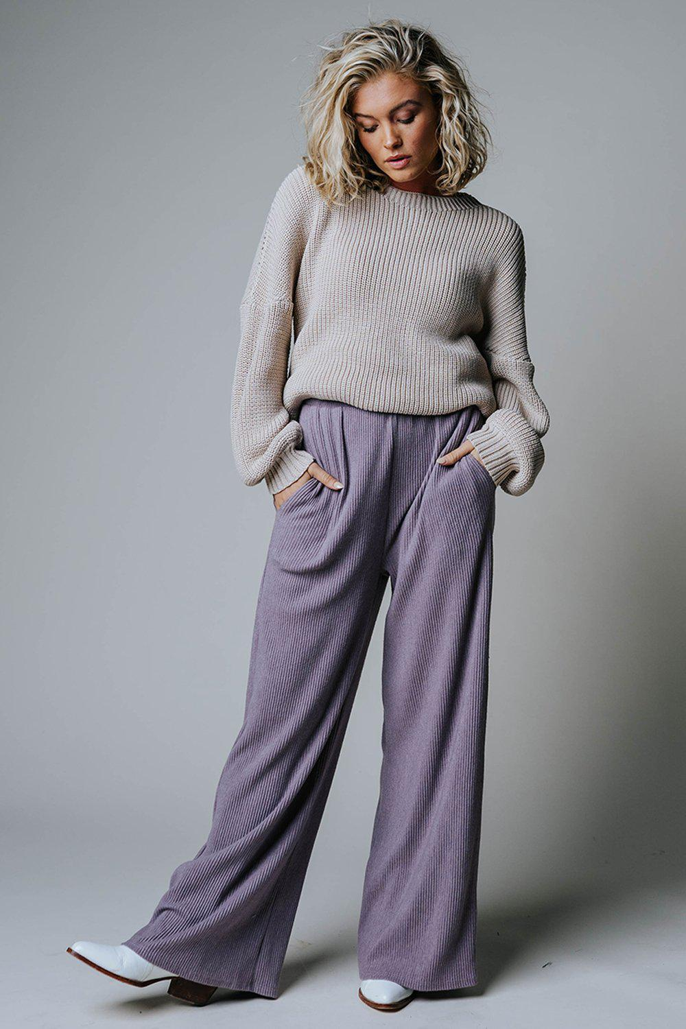 Walk it Out Ribbed Pants-Bottom-n/a-S-Clad & Cloth