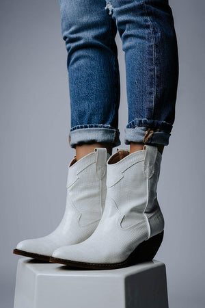 best_seller, Walk the Line Boots in White Croc, Shoes, women's clothing, dresses, skirts, coats, jackets, shoes, boots, tops, tee shirts, jeans, free people, levi's, rollas, jumpsuits, bottoms, tops, sweaters, pullovers, pants, shorts, sweats,.