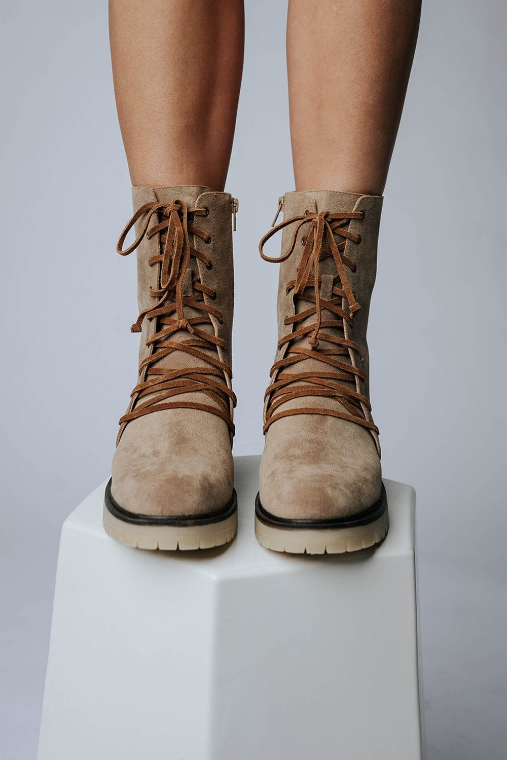 Walking on a Dream Boots in Latte, cladandcloth, n/a.