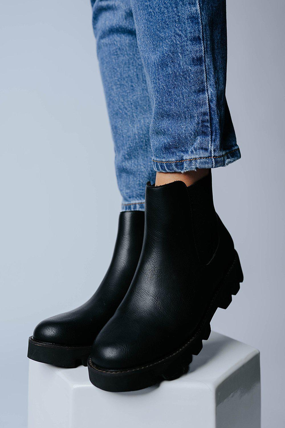Watch Your Step Chelsea Boot in Black, cladandcloth, n/a.