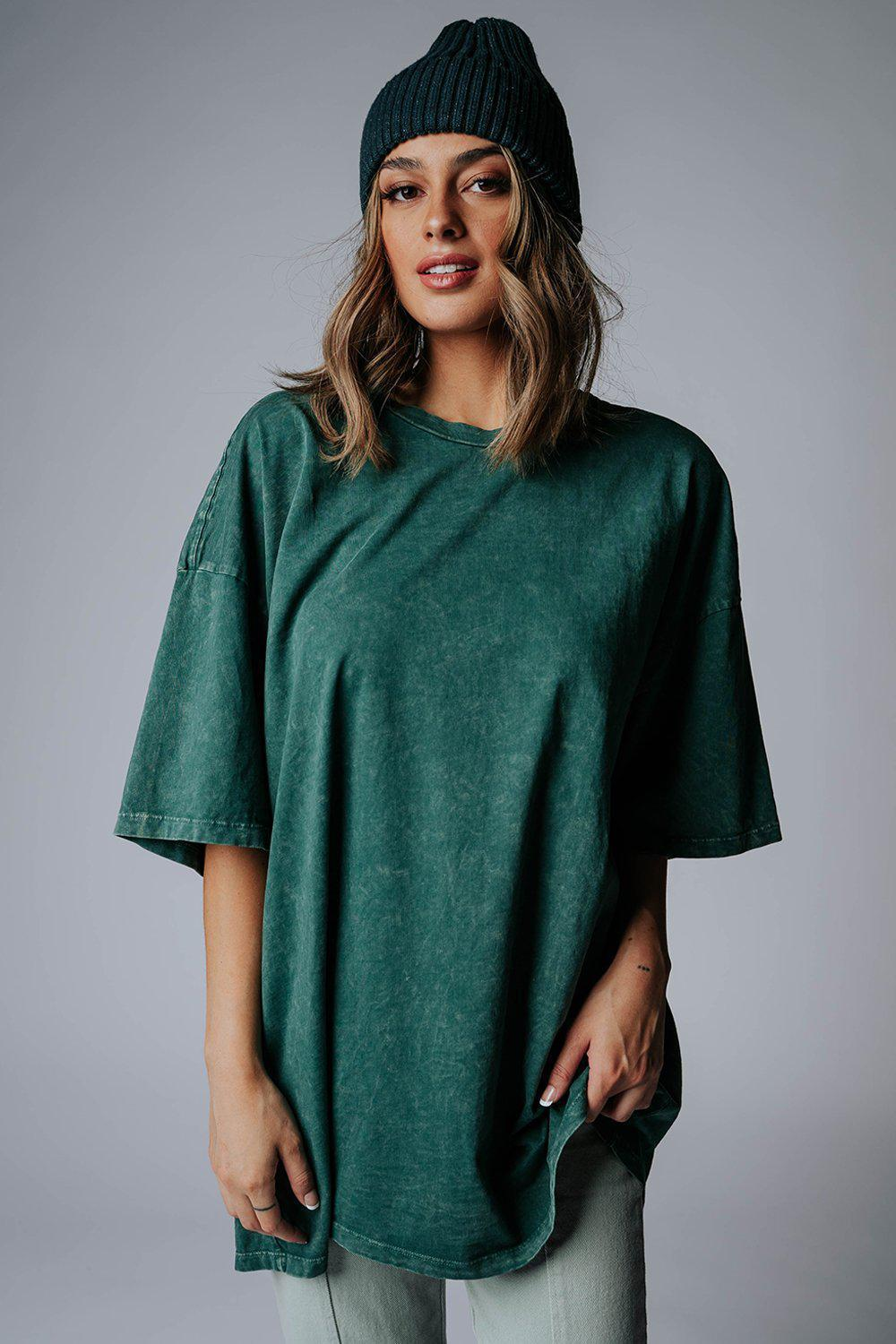 best_seller, WFH Oversized Tee in Emerald - FINAL SALE, Top, women's clothing, dresses, skirts, coats, jackets, shoes, boots, tops, tee shirts, jeans, free people, levi's, rollas, jumpsuits, bottoms, tops, sweaters, pullovers, pants, shorts, sweats,.
