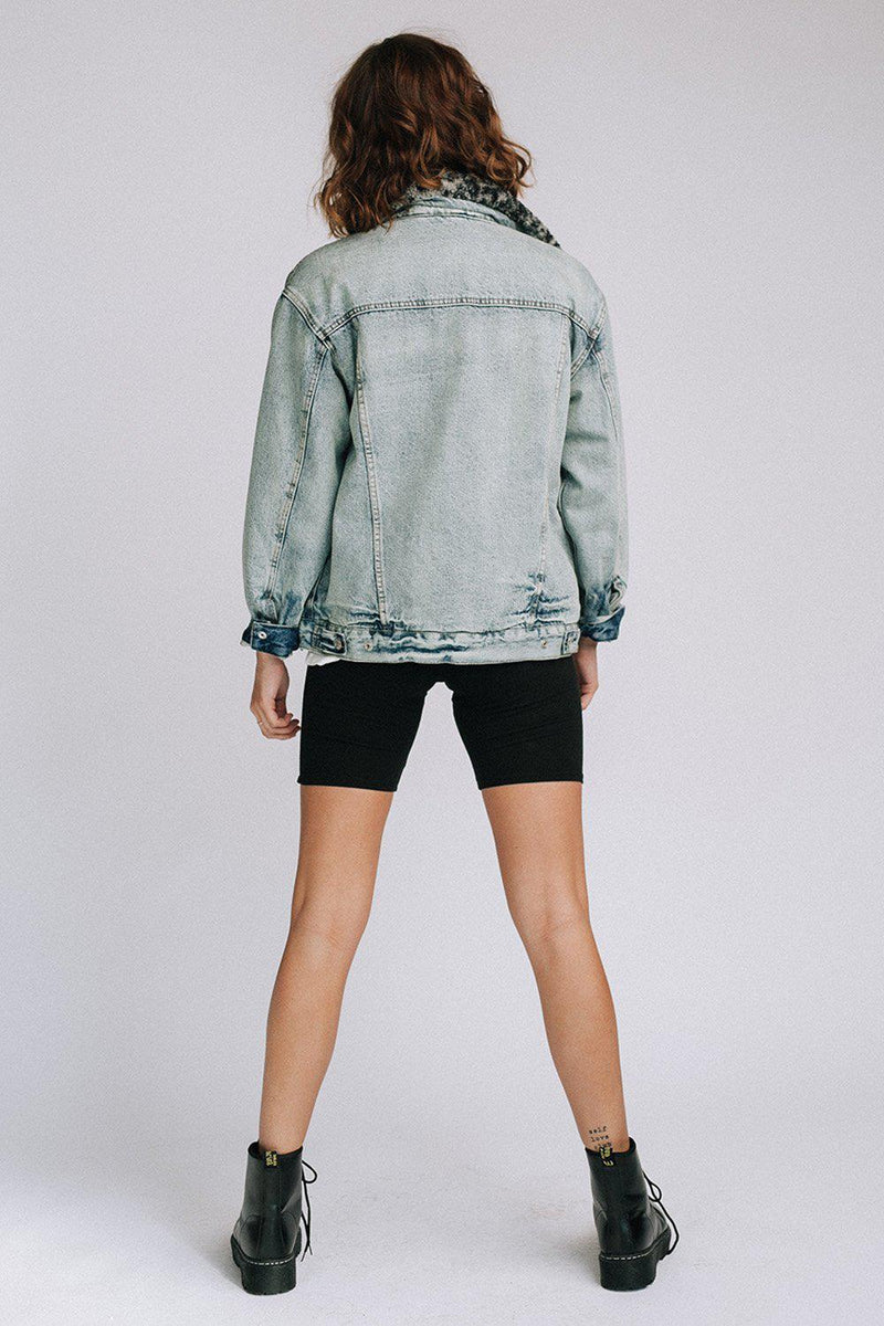 Clad and Cloth, Wild Ones Sherpa Trucker Jacket  by Free People, Free People, Coat.