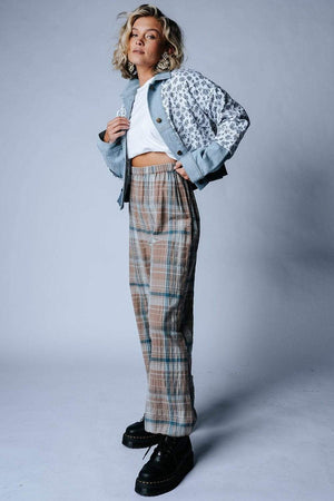 Ziggy Plaid Pants, cladandcloth, Bobbie Wren.