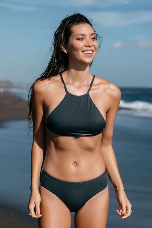 Dusky High Neck Bikini Top