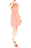Arabesque Marrakech A-Line Button Down Dress - Tangerine