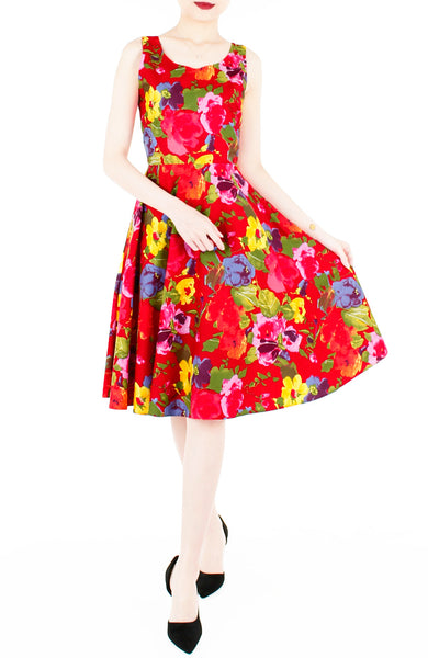 Artful Endeavor Flare Midi Dress