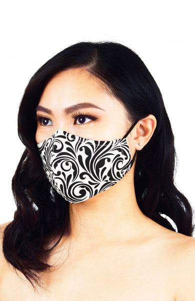 Baroque Queen Pure Cotton Face Mask