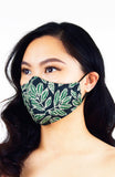 Batik Feuille Pure Cotton Face Mask - Forest