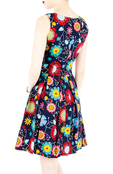Beautifully Abloom Flare Dress