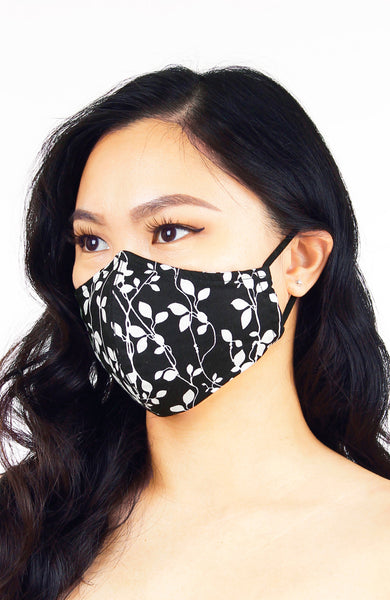 Black Vines Devine Pure Cotton Face Mask