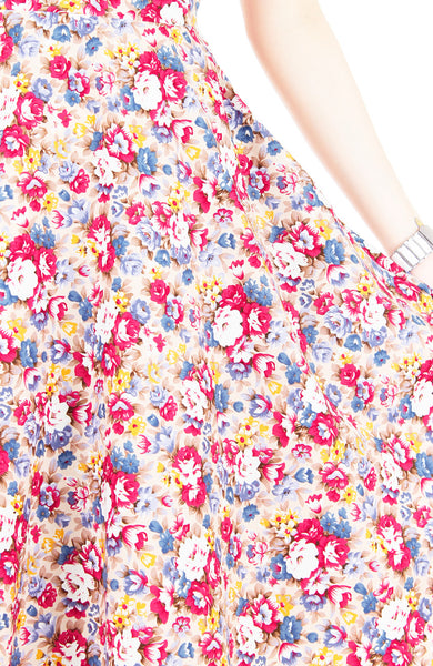 Botanical Brunch Floral Flare Midi Dress