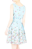 Butterfly of Paradise Wrap Dress with Belt - Baby Blue
