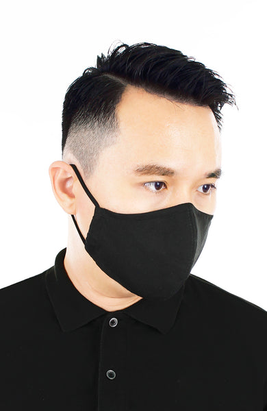 CHIVALRY Essential Pure Cotton Face Mask - Noir Black