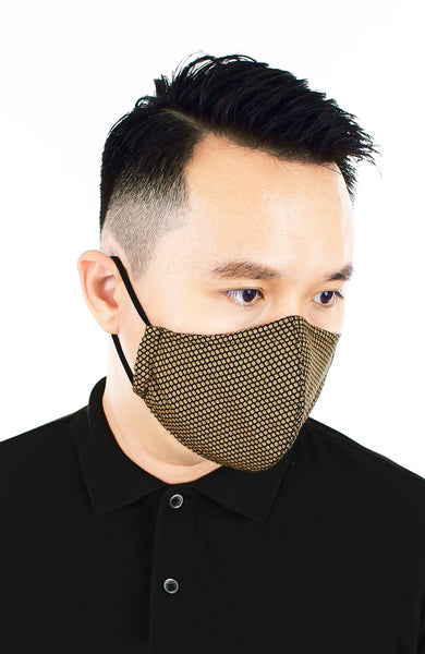CHIVALRY Honeycomb Pure Cotton Face Mask - Bronze