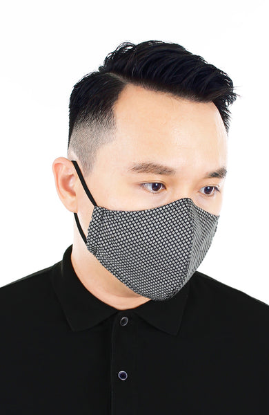 CHIVALRY Honeycomb Pure Cotton Face Mask - Silver