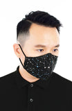 CHIVALRY Moonlight Galaxy Pure Cotton Face Mask - Onyx Black