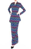 Captivating Chevron Modern Kebaya