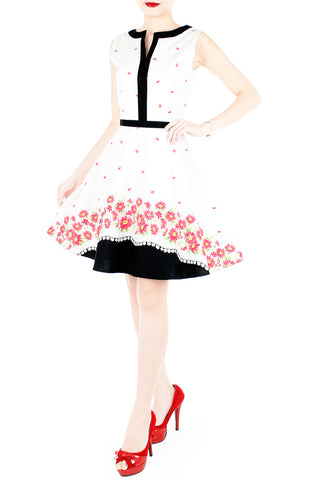 products/Carmine_Daisies_Flare_Dress_with_Black_Trims_-_White-2.jpg