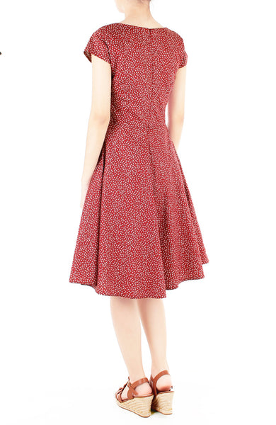 Charming Clematis Flare Tea Dress