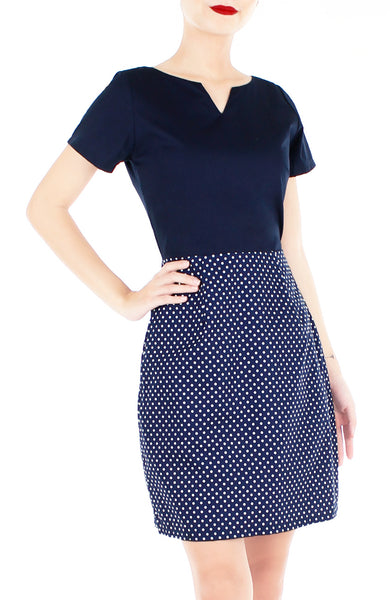 Charming Dots Vera Dress with Short Sleeves