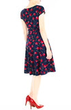 Cherry Picking Flare Tea Dress
