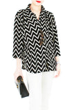 Chevron City Pursuit Blouse - Black