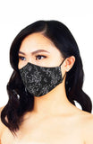 Chinoiserie Sakura Pure Cotton Face Mask - Raven Black