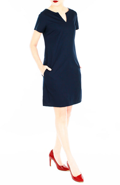 Classic Chic Lily Shift Dress - Midnight Blue