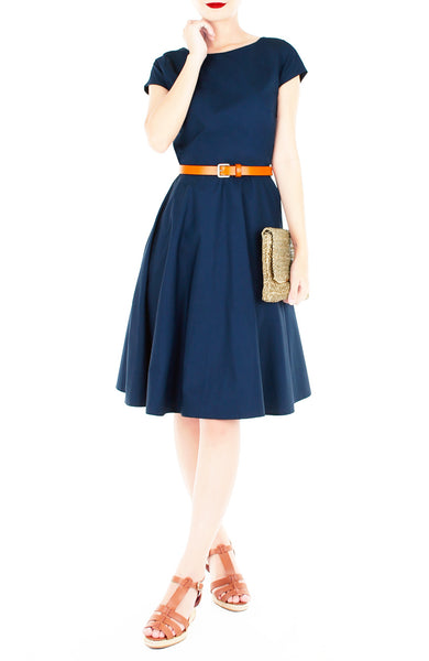 Classic Weekender Flare Tea Dress - Riviera Blue