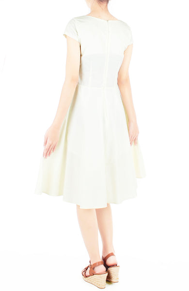 Classic Weekender Flare Tea Dress - Vanilla