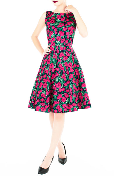 Conservatory of Tulips Flare Midi Dress