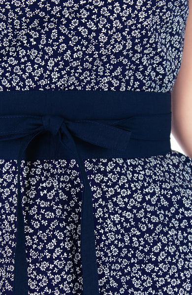 Contemporary Obi Belt - Midnight Blue